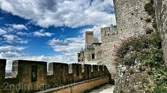 Inner walls of Cite de Carcassonne France
