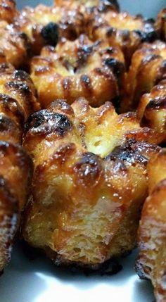 Des cannelés pour l'apéro ouiiiiiiiiii c'est trop bon !! et le pire c'est que vous gardez la base et vous y mettez ce que vous voulez ...des tomates séchées et des pignons de pin, du roquefort et des noix, du chèvre et du miel ....bref à votre sauce,...