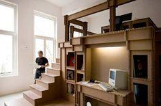 Oficina de cartón - despacho principal