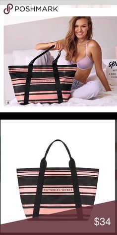 e6f4012547b3d ... 🆕 Victoria s Secret Tote Bag Sparkly Pink Black Victoria s Secret tote  bag. Victoria s Secret Bags Totes