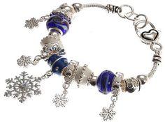 "Amazon: ""Christmas Snowfall"" Murano Glass Beaded Charm Bracelet Only $22.19 (Reg. $59.99)"