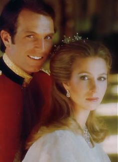 Wedding portrait of Princess Anne and Mark Phillips.  The Queen's daughter, and sister to Prince Charles.