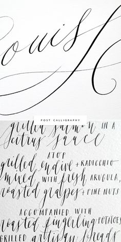 Post Calligraphy Interview via Besotted Blog. You'll LOVE all the inspiration links and resources that Lisa of Post Calligraphy shares, so generous of her!
