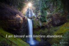 I am blessed with limitless abundance.  #affirmation #wealth #money #abundance - http://ift.tt/1oNRVdq