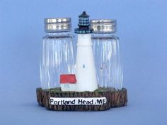 "Portland Head Salt And Pepper Shaker 4"" - Set of 2"
