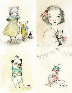 Bottom left picture. I can't decide whether it's cute or creepy, cute then creepy, or cute and creepy.