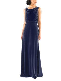 DescriptionJenny Yoo�MadelynFull�length bridesmaid dressDraped, cowl necklineDeep v backNatural waistlineCrepe de Chine