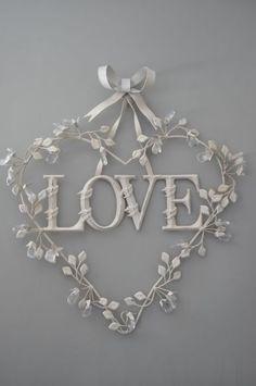 Love Heart Wreath - Valentine's Day or Weddings All Heart, I Love Heart, Heart Art, My Funny Valentine, Valentines Day, Valentine Wreath, Printable Valentine, Homemade Valentines, Valentine Ideas