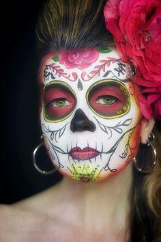 Hope Shots Photography Artist Unique Irish Model Gen H. Silvia Jii Inspired Sugar Skull Face