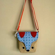 The Fantastic Fox Sling Purse by littleoddforest Fantastic Fox, Pouches, Purse, Shoulder Bag, Studio, Sewing, Projects, Handmade, Bags