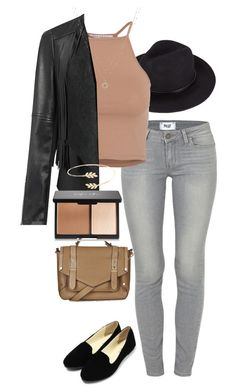 """Untitled #134"" by jasmine-shum ❤ liked on Polyvore featuring Paige Denim, NLY Trend, Topshop, LC Lauren Conrad and Accessorize"
