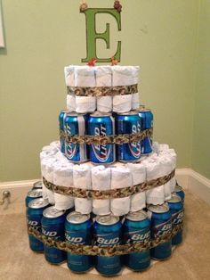 Diaper for Dudes Cake... Something special for the dad to be