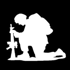 This is the original The Kneeling Soldier standard decal in White. This is the same decal we give to our active duty military and veterans FREE OF CHARGE. Get at least two and share one so you both can Show Your Support Arabian Mehndi Design, Remembrance Day Art, Soldier Silhouette, Country Girl Life, Military Drawings, Pop Art Wallpaper, Anzac Day, Silhouette Cameo Projects, Cricut Creations