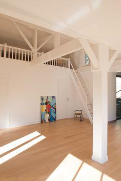 Mezzanine bois, architecte Mélanie Lallemand Flucher, photo Hélène Hilaire