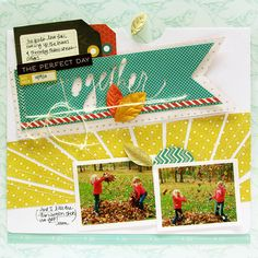 Papercrafting ideas: scrapbook layout idea. #papercraft #scrapbooking #layouts by Danielle Flanders
