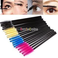 50pcs Disposable Eyelash Brush Mascara Wands Applicator Makeup Makeup Tools -- BuyinCoins.com