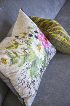 Designers Guild Aubriet embroidered cushion                                                                                                                                                                                 More