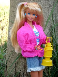 1993 Camp Barbie. Might've had her. Outfit looks very familiar