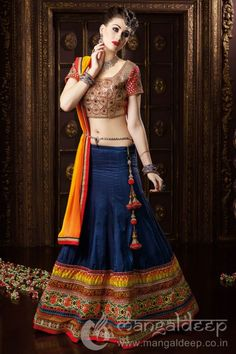 http://www.mangaldeep.co.in/lehengas/stunning-red-and-navy-blue-bansari-silk-party-wear-lehenga-choli-6443 For more details contact us : +919377222211 (whatsapp available)