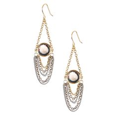 Swag Earrings with Chanel Set Stone