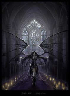 Gothic Fall And so it was - Gothic Dark Art by Suzanne Gildert  <3 !