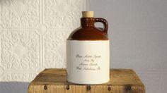 Keim's Kamp Farms Stoneware Maple Syrup by vintagethisretrothat