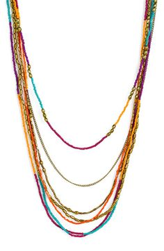 Stephan & Co. Layered Seed Bead Necklace | Nordstrom