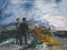 Artwork page for 'Two Travellers', Jack Butler Yeats, 1942 Gothic Landscape, Irish Landscape, Lee Krasner, Jack B, Tate Gallery, Irish Art, Mark Rothko, Art Uk, Art For Art Sake