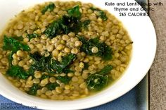 Kale and Lentil Soup with Thyme and Garlic – 265 Calories! GET THE ...