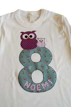 Sweatshirts, Sweaters, Fashion, Owls, Craft Gifts, Appliques, Birthday, Kids, Moda
