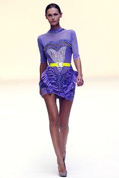 Christopher Kane   Spring 2007 Ready-to-Wear Collection   Tatyana Usova Modeling   Style.com