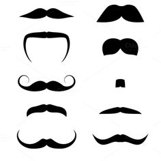 Set of mustache by Vector Shop on @creativemarket