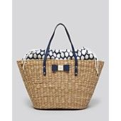 kate spade new york Tote - Vita Limoni Straw Aria Handbags - Bloomingdale's Vacation Packing, Summer 2014, Kate Spade, New York, Handbags, Money, Purses, My Style, Spring