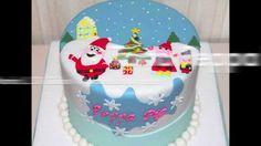 Tutorial di cake design: come si fa la torta di Natale di Peppa Pig - Pe...