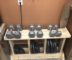 Is your workout area cluttered with your weights, are you lacking a weight rack to hold all of your weights to keep things organized, I know I was. I was tired of my weights being all over the garage floor and un-organized, and I didn't want to go and buy an expensive weight rack! In this instructable I will show you how to build a cheap and affordable weight rack that will hold and organize bench press weights, and dumbbells.