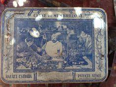 Garagem vintage: Antigua lata de carne de membrillo Puente Genil