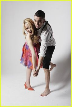 Dianna Agron and Mark Salling from Glee (Puck, Quinn)