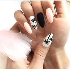 "If you're unfamiliar with nail trends and you hear the words ""coffin nails,"" what comes to mind? It's not nails with coffins drawn on them. It's long nails with a square tip, and the look has. Cute Summer Nail Designs, Cute Summer Nails, Cute Nails, Pink Summer, Nail Summer, Summer Nails 2018, Summery Nails, Style Summer, Simple Nails"