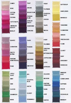 Fyi Dessy Color Swatches You Can Order Online To See If Like The Colours Up Close