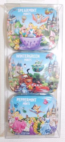 Disney-Theme-Parks-Travel-Mint-3-Pack-Spearmint-Wintergreen-Peppermint-New