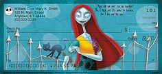 The Nightmare Before Christmas Personal Checks - Sally