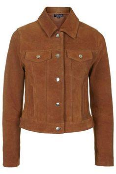Vintage-style suede western jacket at Topshop