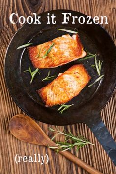 salmon cooked frozen