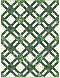 """= free pattern = Cracker Lattice quilt in Portico, 51 x 68"""", by Camelot Fabrics"""
