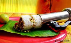 Kerala Puttu Layerd with Fish Masala