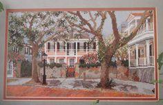 Under the Oaks by Barbara & Cheryl. 18 count Aida. 28cm X 18cm Pam Saunders