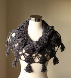 Crochet Poncho Stole Shawl Neckwarmer Cowl by MODAcrochet