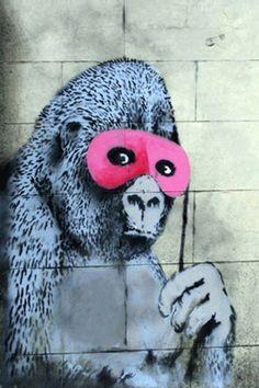 Gorilla-Mask-Pink-Ape-Monkey-by-Banksy