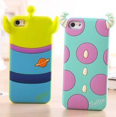 Aliexpress.com: Comprar Cubierta monstruo de goma, lindo de la historieta 3D Case para Apple iPhone 5 5S 3D funda de silicona 5 Series caso lindo para el teléfono de galaxia caso s3 i9300 fiable proveedores en ShenZhen ChengXiang Technology co., LTD