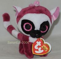 174d5dbbedc 2017 Ty Beanie Boos LeeAnn the Lemur Key Clip Size NWT s - IN HAND Ty Beanie